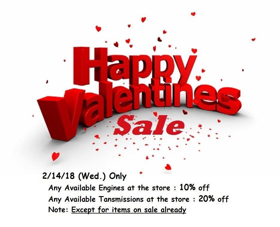 St. Valentine's Day Sale 2/14/18