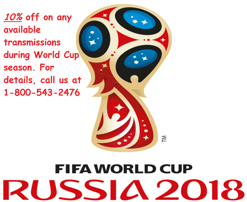 Transmission Discount Sale during FIFA World Cup 2018