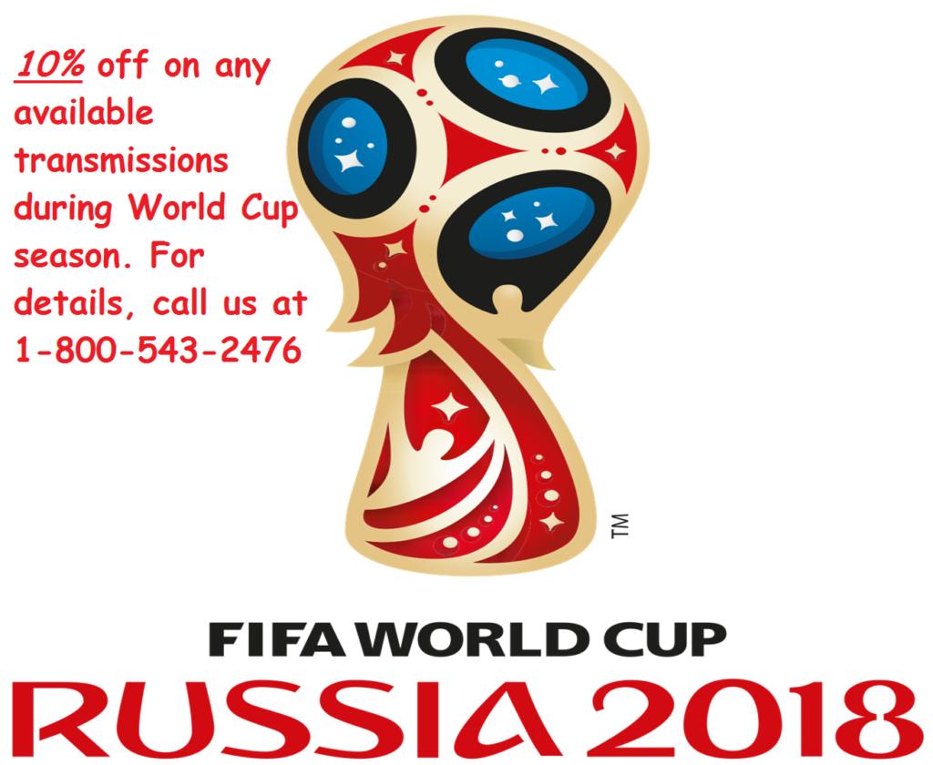 Venta con descuento de transmisión durante la Copa Mundial de la FIFA 2018